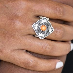 Four Corners Fashion Ring (orange)